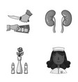 restaurant robbery and other monochrome icon in vector image vector image