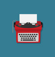 retro typewriter in flat style vector image