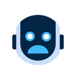 robot face icon shocked face emotion robotic emoji vector image vector image