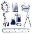 school items2 vector image vector image