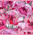 seamless floral decorative pattern with red and vector image vector image