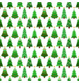 seamless pattern with green fir-trees vector image