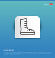 skating shoe icon - blue sticker button vector image