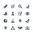 startup icons set on white background vector image