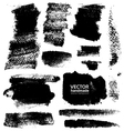 Strokes of black ink on textured paper