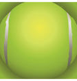 Tennis Ball Closeup vector image vector image