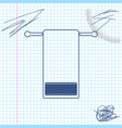 towel on a hanger line sketch icon isolated on vector image
