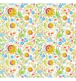 traditional russian floral ornament vector image vector image