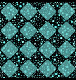 turquoise and black seamless chess styled vector image vector image