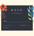 wedding floral background colorful invitation vector image vector image