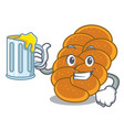 with juice challah mascot cartoon style vector image vector image