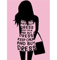 Woman in dress from quotes vector image vector image