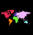 world map with color vector image