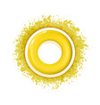 yellow sun icon with rays out of blot sign or vector image