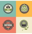 BIO stamp ECO ORGANIC Labels Collection vector image