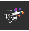 happy valentines day greting banner with colorful vector image