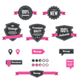 Retro and vintage badges vector image