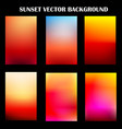 abstract colorful sunset template vector image vector image