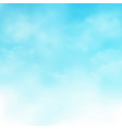 abstract of realistic blue sky with clouds vector image vector image
