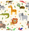 African animals seamless pattern Cartoon childish vector image vector image