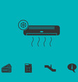 air conditioning icon flat vector image vector image