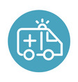 ambulance transport urgency support medical and vector image