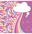 Background with doodle cute kawaii vector image