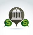 banking symbol financial institution icon Speech vector image