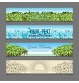 Banner ads palm tree theme