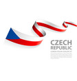 banner with czech republic flag colors vector image