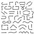 black arrows set of symbols vector image