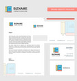 book and pencil business letterhead envelope and vector image vector image