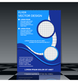 Brochure cover design template vector image vector image