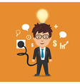 Businessman with full battery vector image
