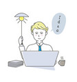 businessman working and creating new idea vector image