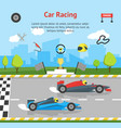 cartoon car racing sport professional competition vector image vector image