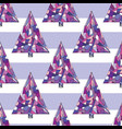 christmas tree seamless pattern happy new vector image vector image