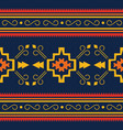 colorful aztec seamless pattern ethnic geometric vector image vector image