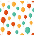 colorful balloons seamless pattern over white vector image