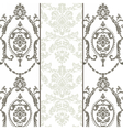damask ornament pattern set vector image vector image