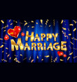 design a marriage greeting card template vector image vector image