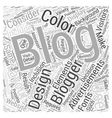 Design Elements Of A Blog Word Cloud Concept vector image vector image