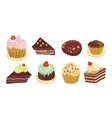 desserts set vector image vector image