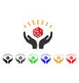 dice win hands icon vector image