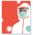 doctor in personal protective equipment covid19 vector image