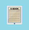 electronic book flat design concept eps 10 vector image vector image