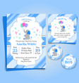 elephant bashower invitation birthday party vector image