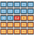 film strip stills vector image