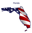 florida full american flag waving in wind vector image