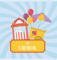 fun fair carnival ticket booth and ice cream vector image vector image
